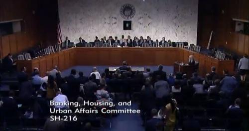 米フェイスブックのリブラ責任者が招致された公聴会の様子