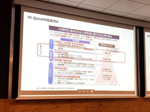 経産省が主導するAI人材育成の取り組み「AI Quest」の位置付け