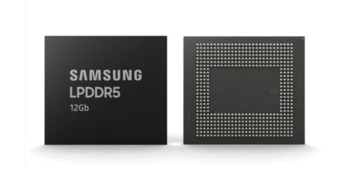 サムスン電子は12GバイトのLPDDR5モバイルDRAMを量産すると発表