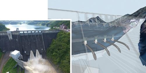 図1:田瀬ダムの高圧放流設備