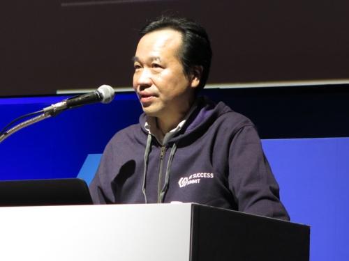 日本電産の犬塚忠暁人事企画部長。2019年7月25日に開催されたビズリーチのイベント「HR SUCCESS SUMMIT 2019」で事例を講演した