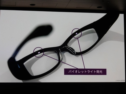 開発中のメガネ型医療機器のイメージ