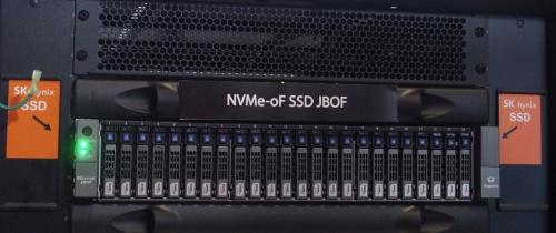 SK HynixのNVMe-oFにネイティブ対応したSSDを利用したJBOF