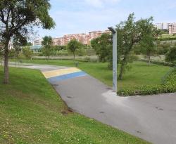 図1●サンタンデール市の公園におけるスマートストリートライティングの事例