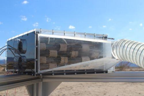 UCBのYaghi研究室が開発した水収穫機のMOFの筐体