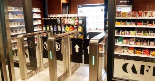 NTTデータが開設した実験用のレジなしデジタル店舗