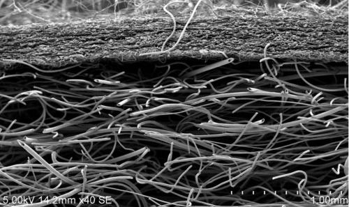 図2 直径数μm以下の超極細繊維で吸音材を薄く