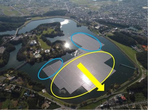 図5●1つの「島」が3つに分断され、青い丸の部分は残り、黄色丸の部分が北に押し流された