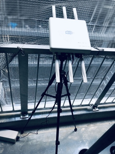 西松建設が建設現場で活用しているPicoCELAの建設土木・防災向け屋外無線LAN機器「PCWL-0410」