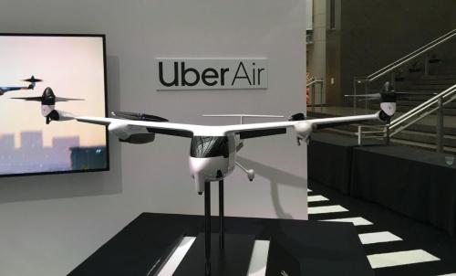 ウーバーのUber Air向け参照機のモックアップ(撮影:日経 xTECH)