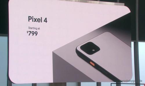 発表会「Made by Google」で「Pixel 4」を発表。画像は公式動画をキャプチャーしたもの
