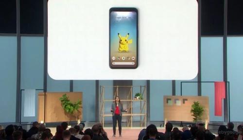 発表会「Made by Google」で「ピカチュウ」とのインタラクションを披露。画像は公式動画をキャプチャーしたもの
