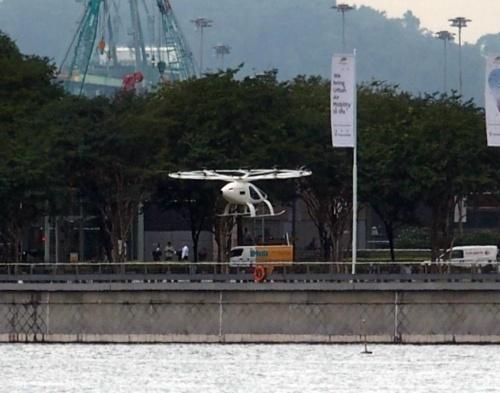 飛行後、着陸直前の様子(撮影:日経 xTECH)