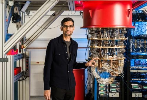 グーグルが自社開発した量子コンピューターのハードウエア