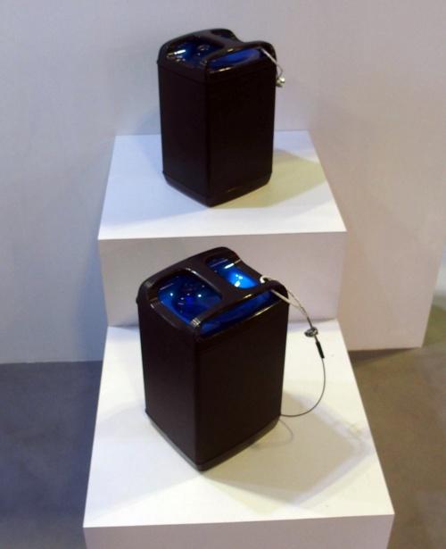 モバイルパワーパック。パナソニックのブースに展示されていたもの(撮影:日経 xTECH)