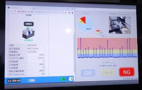 かみ込み検出のデモンストレーション画面
