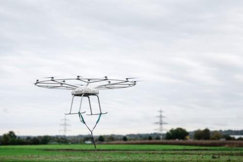 2019年10月のVoloDroneによる飛行試験の様子(出典:ボロコプター)