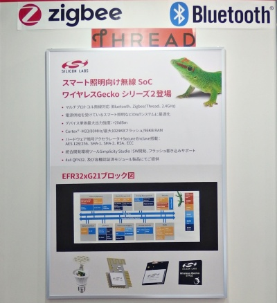 「Wireless Gecko Series 2」の説明パネル。シリコン・ラボラトリーズのパネル