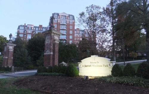 会場のMarriott Washington Wardman Park。筆者撮影