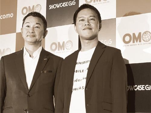 NTTドコモ執行役員プラットフォームビジネス推進部長の前田義晃氏(左)とShowcase Gig代表取締役の新田剛史氏