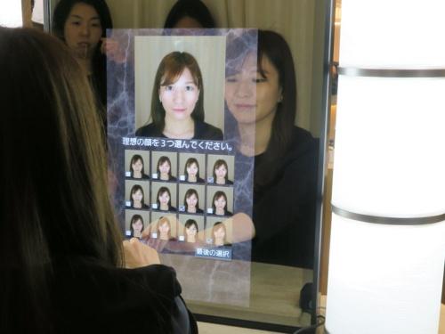 「理想顔システム」のデモ
