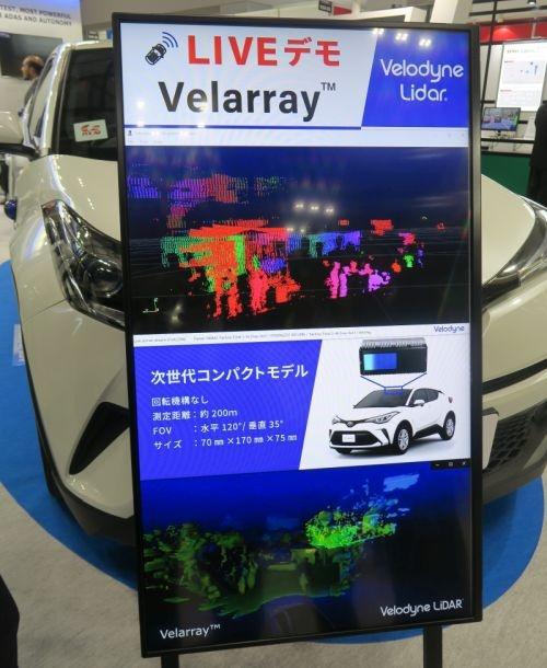 上記Velarrayの動作デモで3Dセンシング結果の表示例