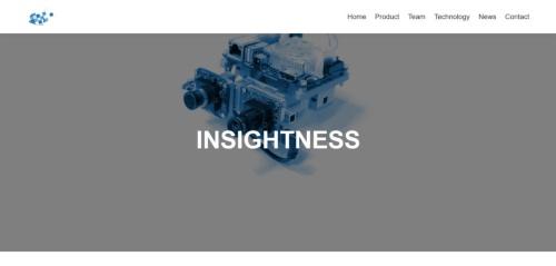 InsightnessのWebページをキャプチャーしたもの