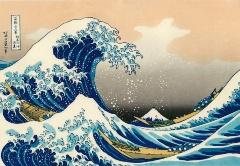 紺青色にプルシアンブルーを用いている葛飾北斎の「富嶽三十六景 神奈川沖浪裏」