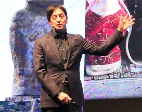 新戦略を発表したメルカリの山田進太郎社長兼CEO(最高経営責任者)