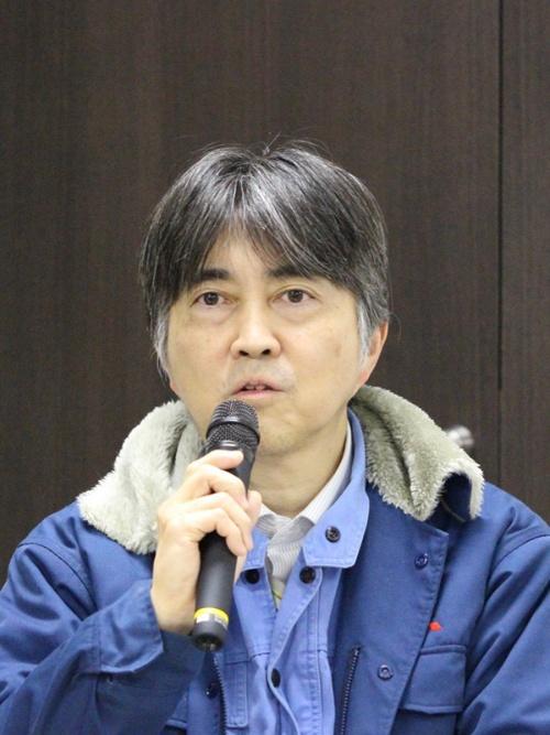 結果報告を行う三菱重工の新津プロジェクトエンジニア