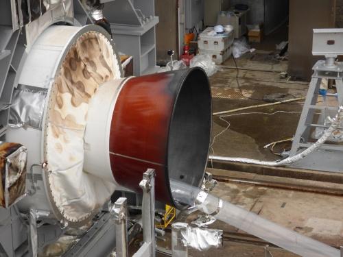 試験後のSRB-3供試体ノズル部分