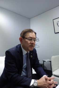 NTT取締役研究企画部門長の川添雄彦氏(写真:日経クロステック)