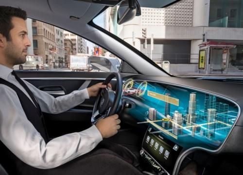 図1 車載用の裸眼3Dディスプレーのイメージ