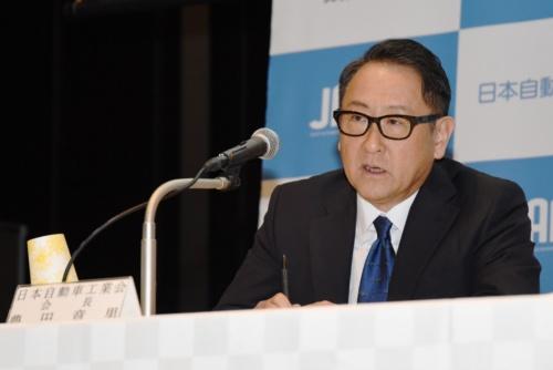 図1 日本自動車工業会の豊田章男会長