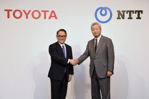 図1 トヨタ自動車とNTTがスマートシティー事業で資本業務提携