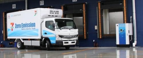 図2 三菱ふそうのEVトラック「eCanter」
