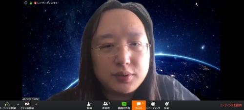台湾のデジタル担当政務委員(閣僚級)であるオードリー・タン(唐鳳)大臣