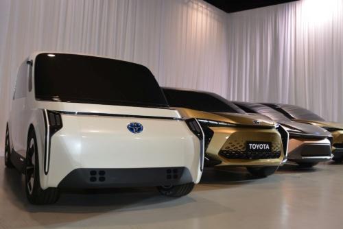 図2 トヨタが2020年代前半の投入を目指すEVのモックアップ