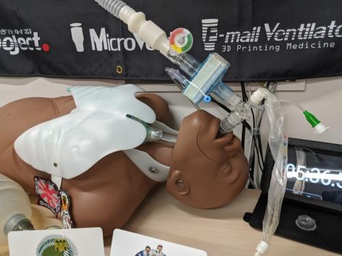 簡易人工呼吸器の装着イメージ
