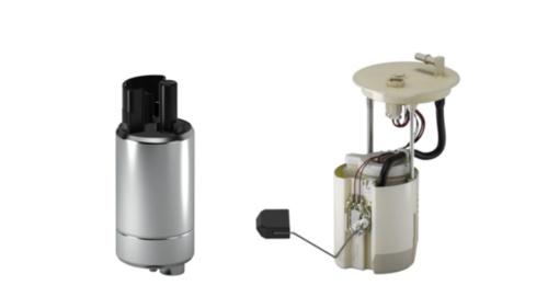 燃料ポンプ(左)と燃料ポンプモジュールの例