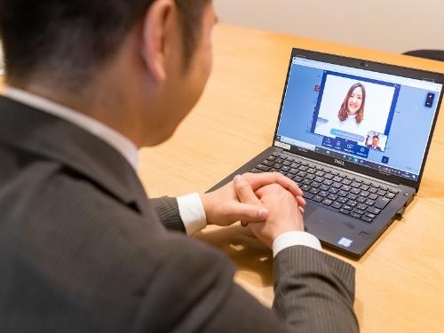 Web会議システム「bellFace」を使ったオンライン営業のイメージ