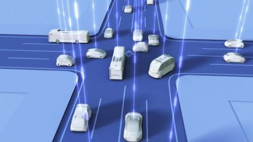 4Dデジタル基盤を活用した未来予測によって、将来的には信号のない交差点も実現できるという