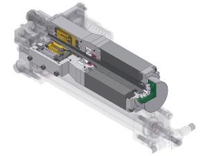 図5 電磁モーターで油をシリンダーに送り込む電油方式