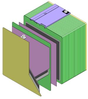 図1 古河電工と古河電池が開発したバイポーラ型鉛蓄電池