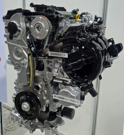 図1 トヨタの直列3気筒ガソリンエンジン