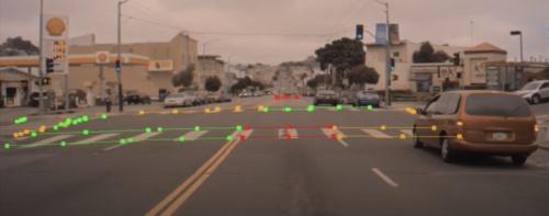 図1 新開発のNNによる交差点構造の認識の一例