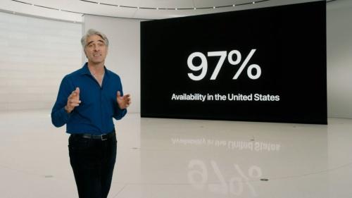 アップルによれば、世界の新車の約80%、米国ではそれを上回る97%の新車がCarPlayに対応するという