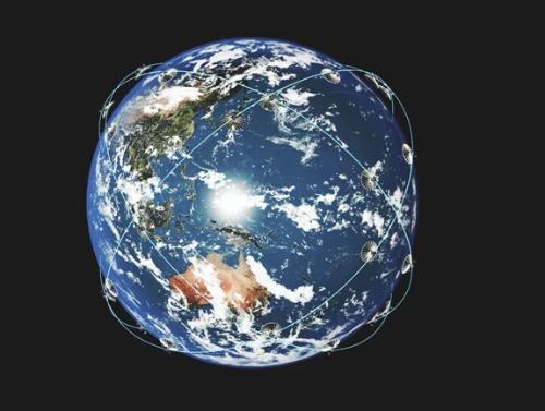 QPS研究所が運用予定のSAR衛星コンステレーションのイメージ
