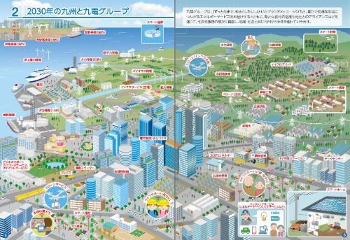 九州電力が示す2030年に手掛ける事業のイメージ