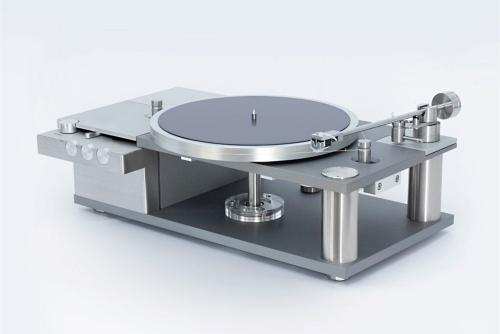 由紀精密が開発した200万円のアナログレコードプレーヤー「AP-0(開発コード)」の外観